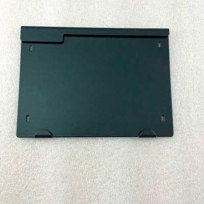 Placa frontal de aluminio plastificada negro