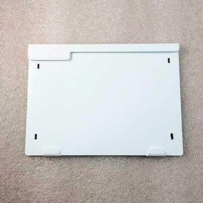 Placa frontal de aluminio plastificada blanco