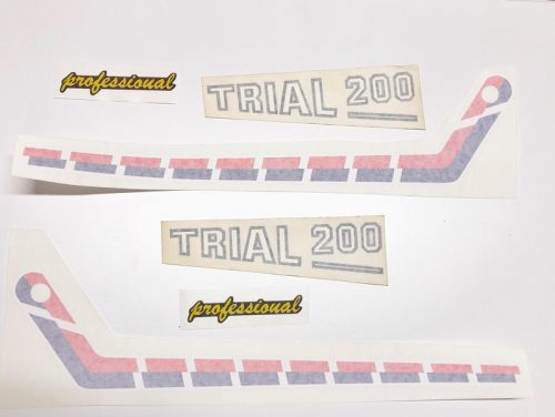 Juego Adhesivos placas laterales aluminio FANTIC 200