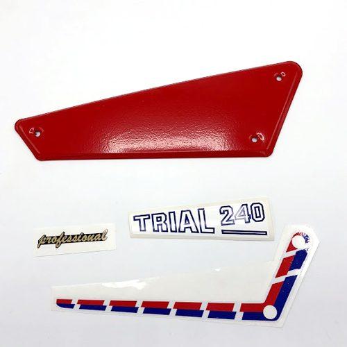 Juego Adhesivos placas laterales aluminio FANTIC 240