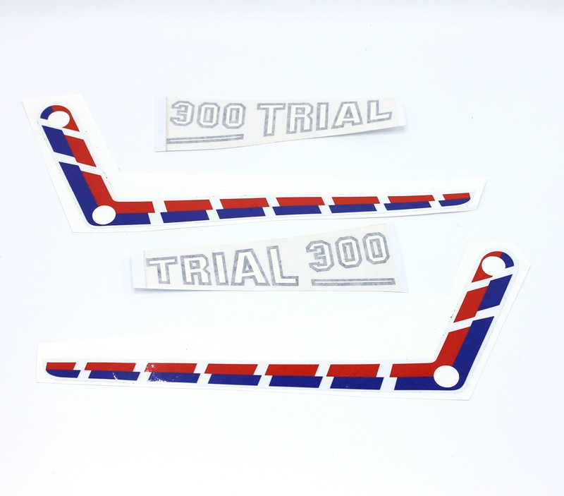 Adhesivos placas laterales aluminio FANTIC 300