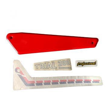 Kit adhesivos y placas laterales aluminio Fantic 200