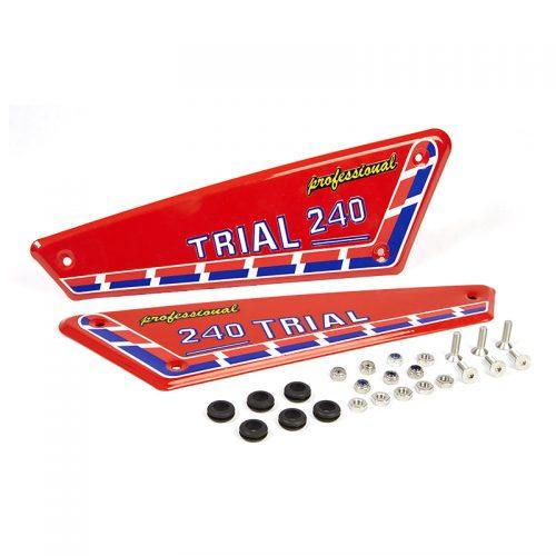 Kit adhesivos y placas laterales aluminio Fantic 240
