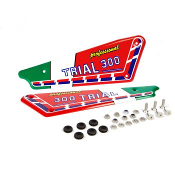 Kit adhesivos y placas laterales aluminio Italianas Fantic 300