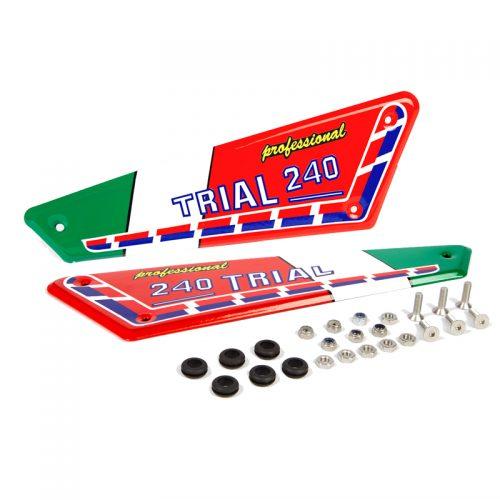 Kit adhesivos y placas laterales aluminio Italianas Fantic 240